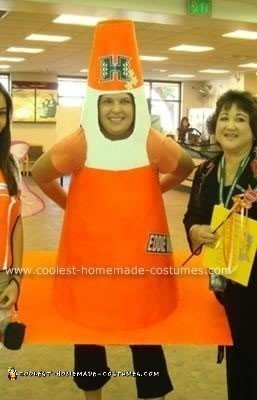 Homemade Traffic Cone Halloween Costume