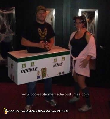 Homemade Trailer to Her Trash Couple Costume