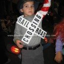 Homemade Train Crossing Gate Costume