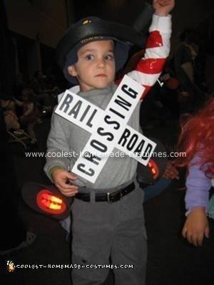 Homemade Train Crossing Gate Costume
