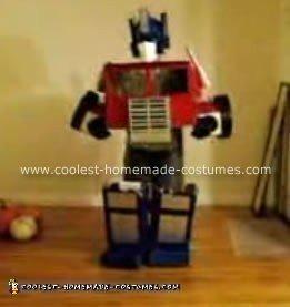 Homemade Transforming Optimus Prime Halloween Costume