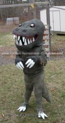 Homemade T-Rex Dinosaur Costume