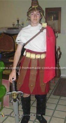 Homemade Trojan Man Costume