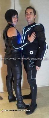 Homemade Tron Couple Costume
