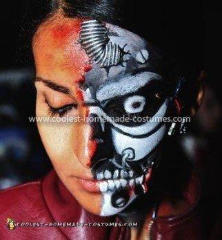 Coolest T-X Terminator Costume - designing robot face