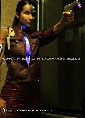 Coolest T-X Terminator Costume - testing chest lights
