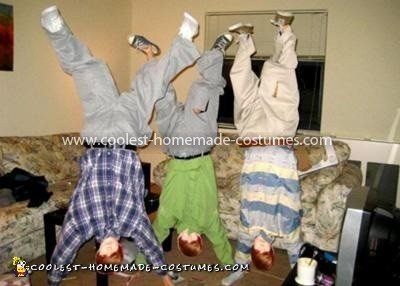 Homemade Upside-Down Bieber Costumes