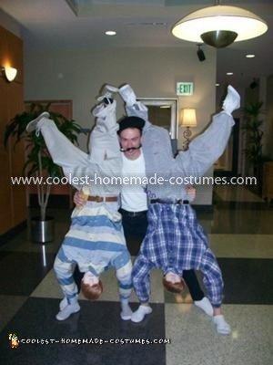 Homemade Upside-Down Bieber Costumes
