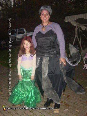 Homemade Ursula and Ariel Couple Costume
