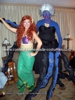 Coolest Ursula the Sea Witch Costume (with Ariel)