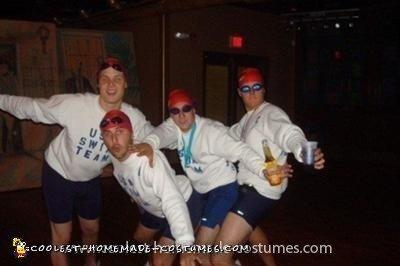 Homemade USA Swim Team Group Costume