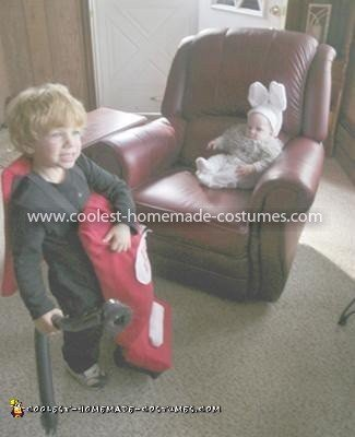 Coolest Vacuum and Dust Bunny Baby Couple Costume