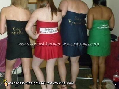 Homemade Variety Six-Pack Costume