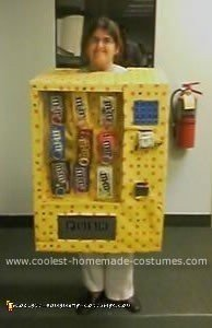 Homemade M&Ms Vending Machine Costume