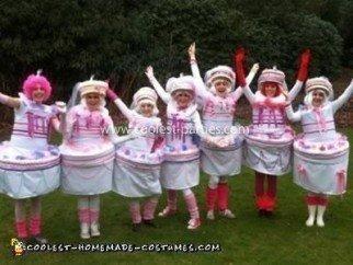 Homemade Wedding Cake Group Costume