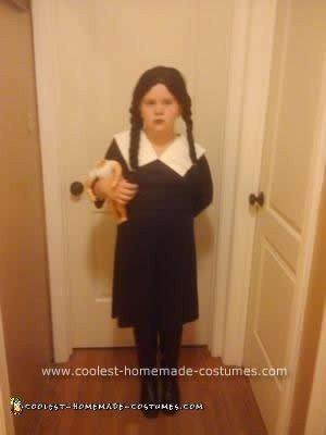 Homemade Wednesday Addams Costume