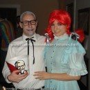 Homemade Wendy and Colonel Sanders Couple Costume
