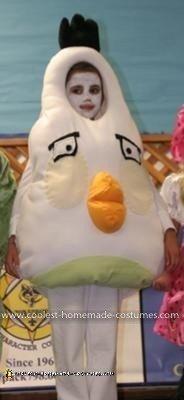 Homemade White Angry Bird Costume