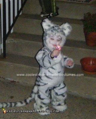 Homemade White Tiger Halloween Costume