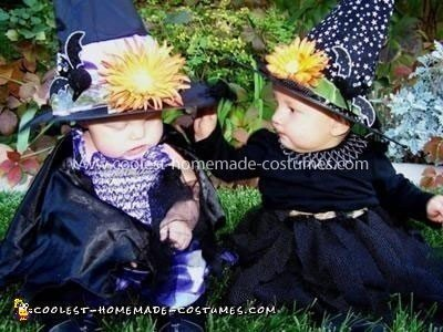 Homemade Wicked Witches Baby Costumes
