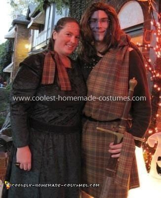 Homemade William Wallace and Princess Isabelle Couple Costume