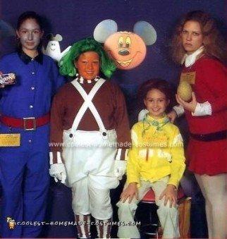 Homemade Willy Wonka Group Halloween Costume