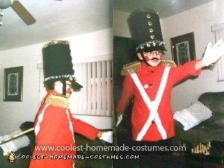 Homemade Wind-Up Toy Nutckracker Soldier Costume