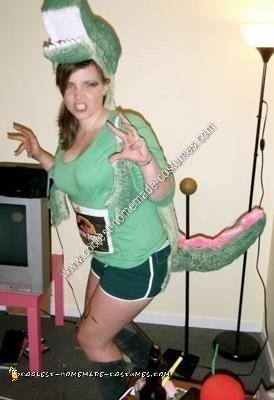 Homemade Woman's T-Rex Dinosaur Costume