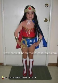 Homemade Wonder Woman Girl Costume