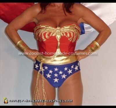 Homemade Wonder Woman Swim Costume
