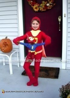 Homemade WordGirl Costume