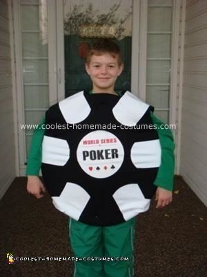 Homemade World Series of Poker Chip Halloween Costume