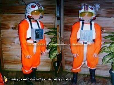 Homemade X-Wing Pilot Halloween Costume