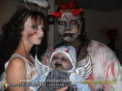 Coolest Zombie Lucifer, Angel, and Baby Costume 54