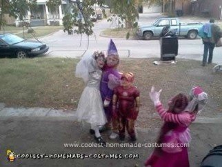 Homemade Zombie Princess and Corpse Bride Costumes