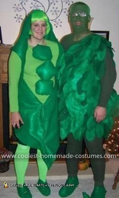 Homemade Green Bean Pod and the Jolly Green Giant Couple Costume