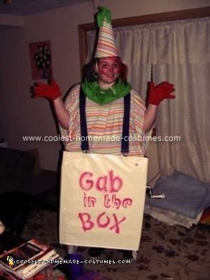 Homemade Clown in the Box Halloween Costume