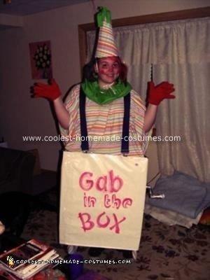 Homemade Clown in the Box Halloween Costume