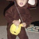 Cool DIY Hand-Sewn Monkey Costume Onsies for Toddlers