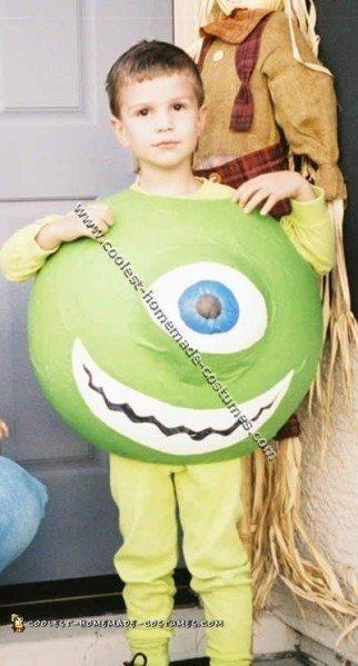 Coolest Homemade Mike Wazowski Costume Ideas