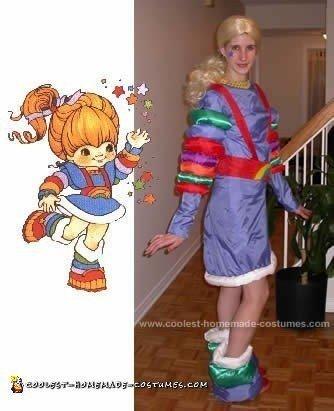 Homemade Rainbow Brite Costume