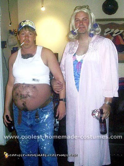 Pregnant Couple Beer Belly Costume