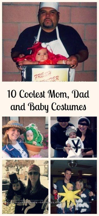 Top 10 DIY Mom, Dad and Baby Costume Ideas