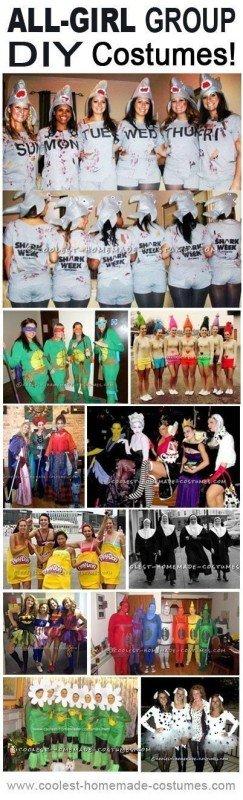 Top 11 All-Girl DIY Halloween Group Costumes