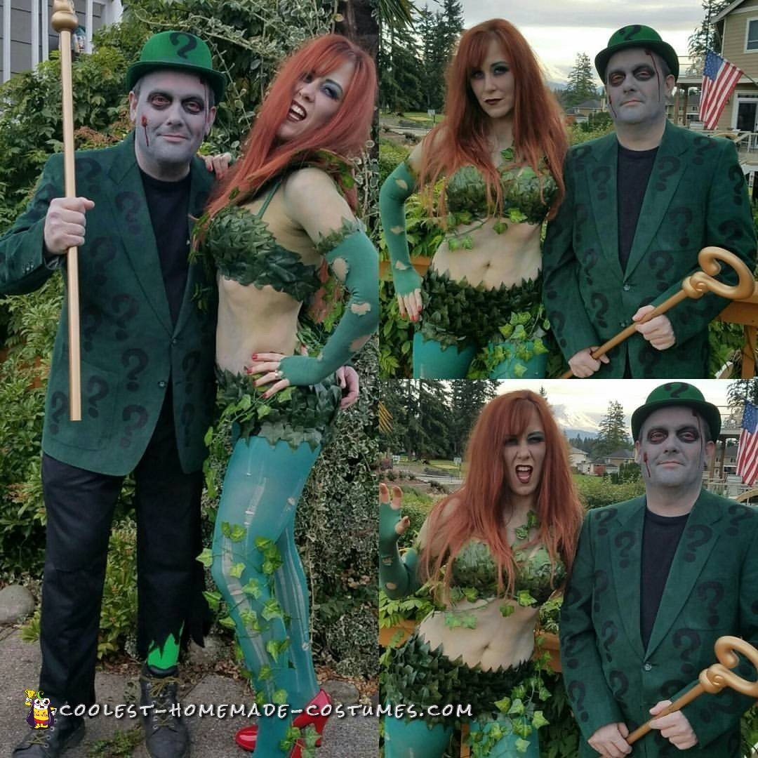 Super Realistic Zombie Poison Ivy And Zombie Riddler Costumes