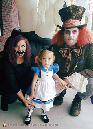Alice in Wonderland and the Mad Hatter Family