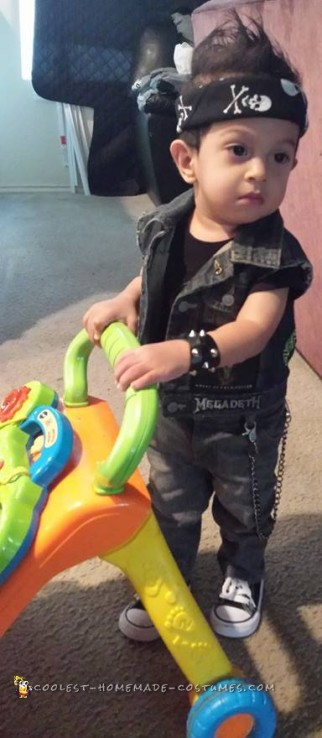 Coolest Rocker Costume for 20 month old Boy