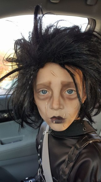 Awesome Homemade Edward Scissorhands Costume for a Child