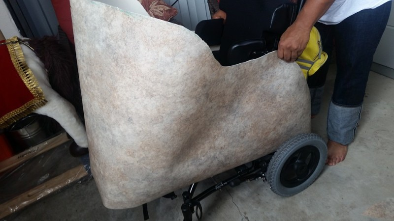 Chariot Wheelchair Gladiator Costume