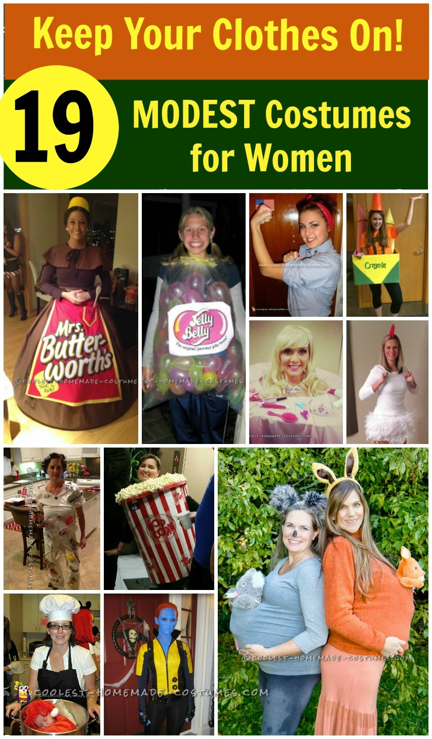 19 Coolest DIY Modest Halloween Costumes for Women and Girls